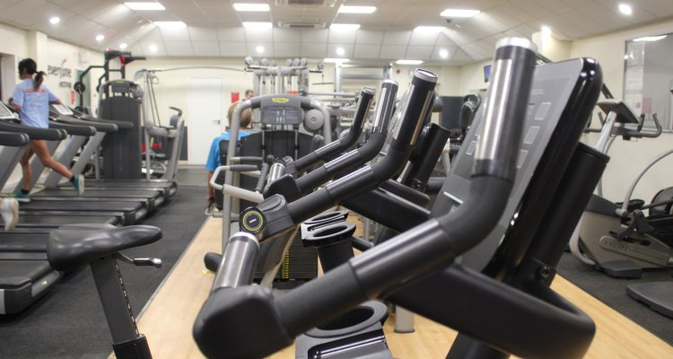 The fitness suite at Coalville's Everyone Active leisure centre.