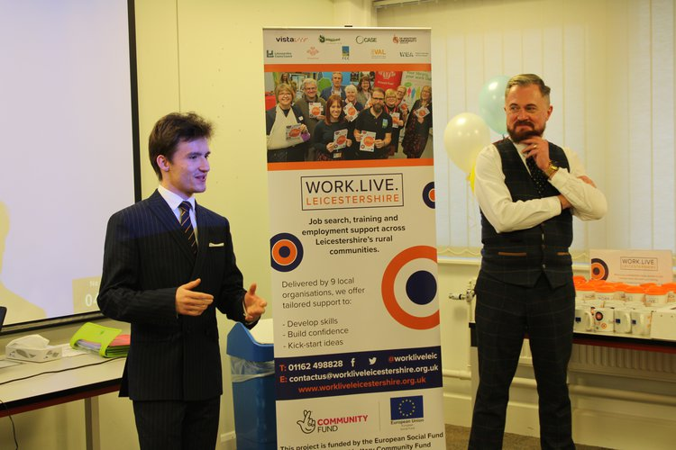 WiLL participant Sebastian presented on his experiences alongside Access All Areas Director Mark Frisb.y