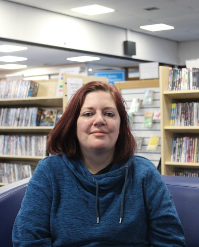 Photo of Jenny at Coalville Library