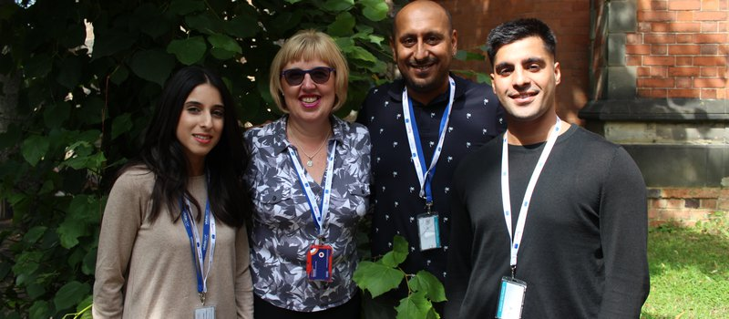 The Vista team from left to right - Shalina, Beverley, Gurds and Fayaz standing outdoors.